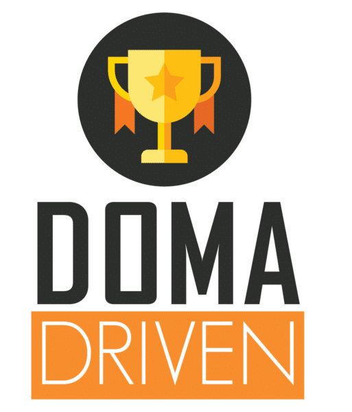 A trophies with DOMA Driven