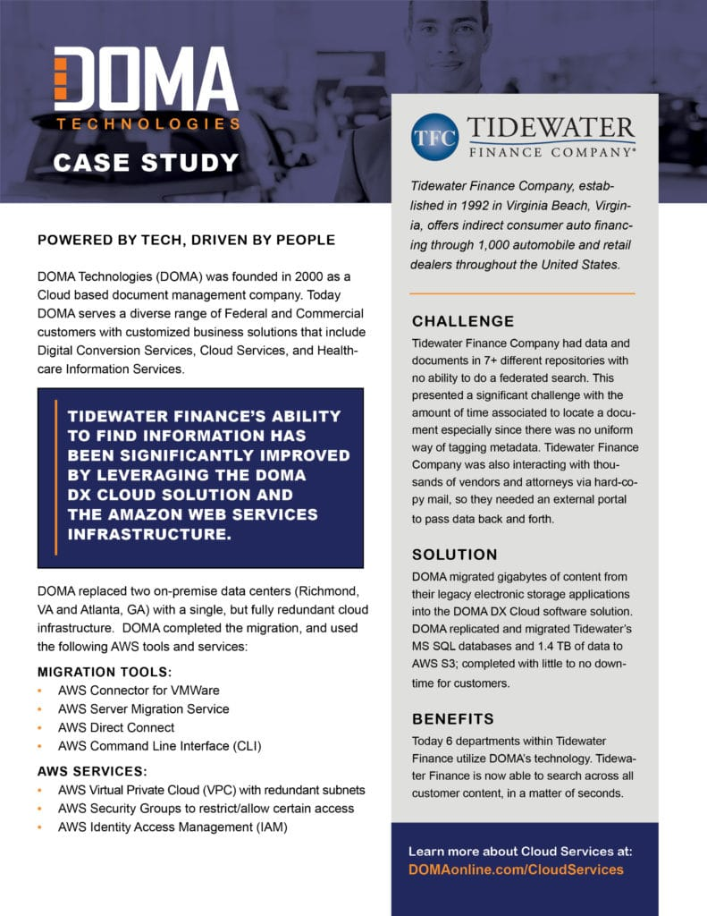 Tidewater Finance Case Study
