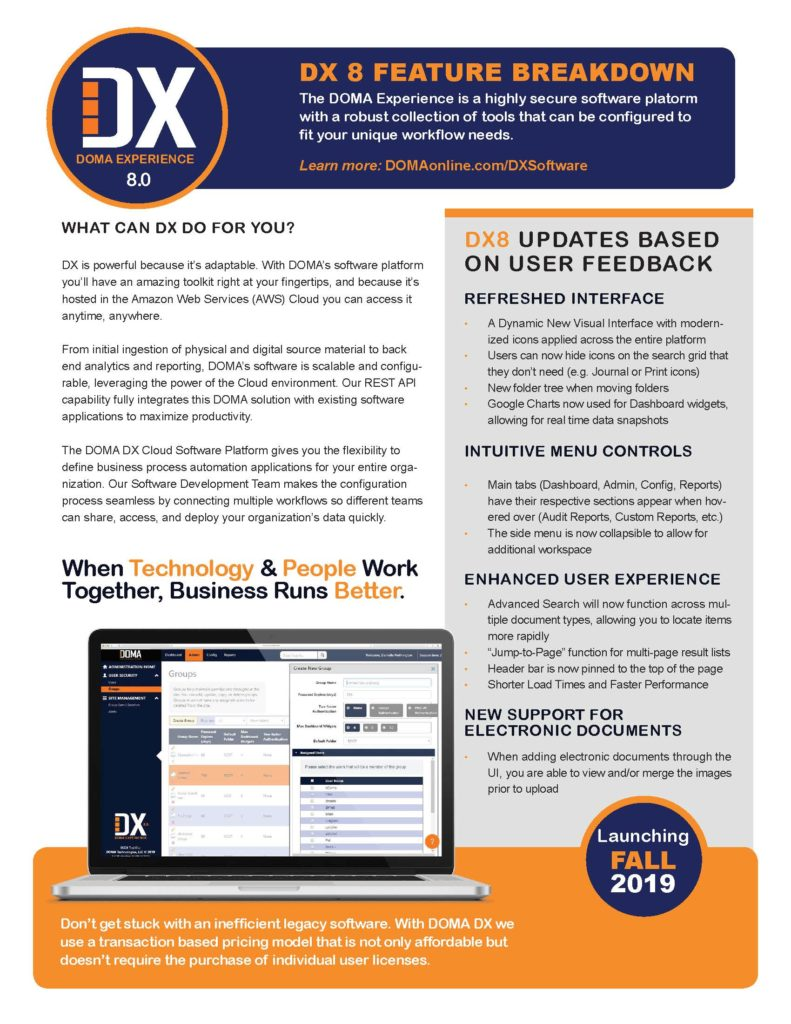 DX 8.0 Software Brief Page 2