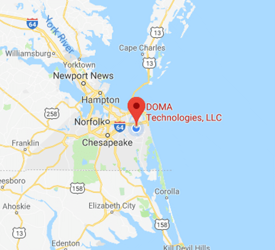 DOMA Technologies Virginia Beach Map