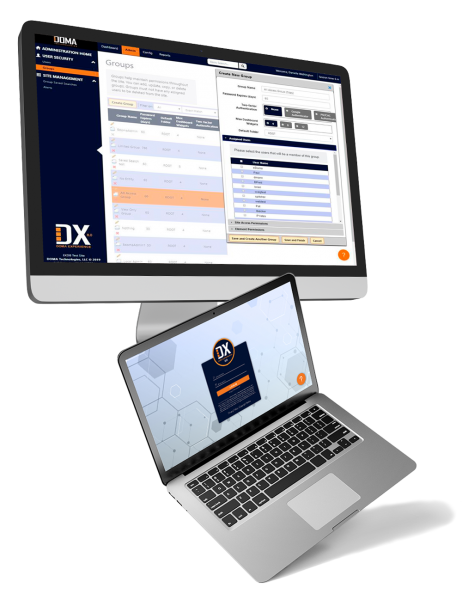 DX Software on a Desktop and a Laptop