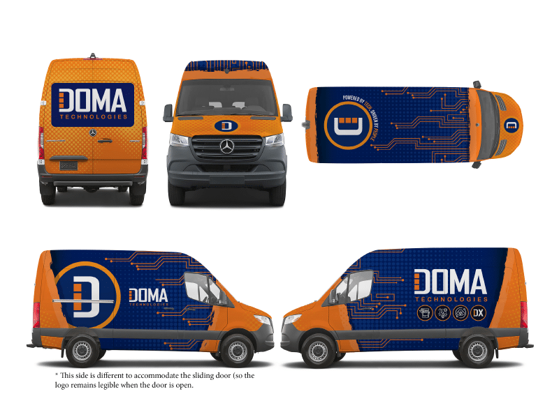Several Views of DOMA's New Secure Document Transport Van