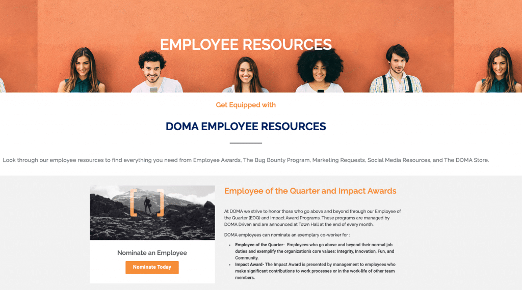 employee resource page
