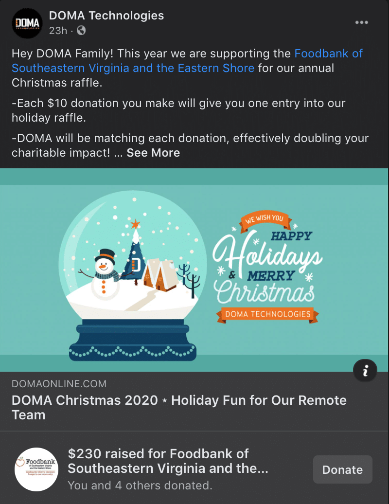 Picture of the DOMA Holiday Fun Post